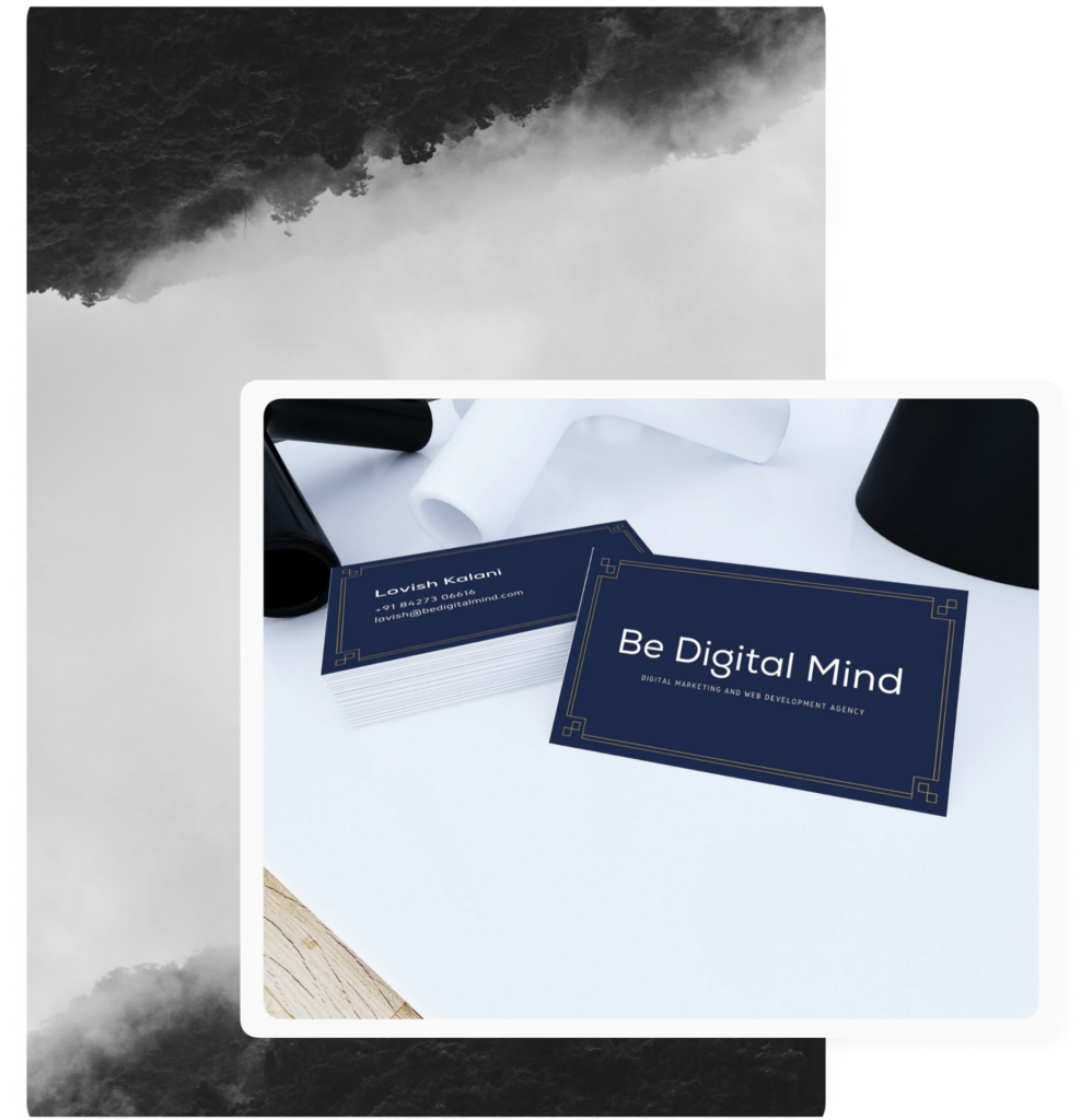 Best web development and Digital marketing agency in abohar - Be Digital Mind visiting card